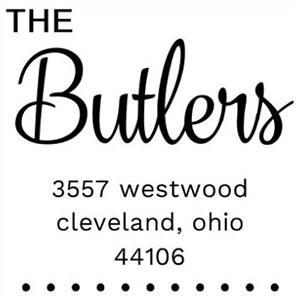 Butler Wood Mounted Address Stamp