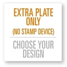 Picture of Extra Stamp Plate for the 4343 Stamping Device