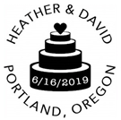 Picture of Heather Wood Mounted Wedding Stamp