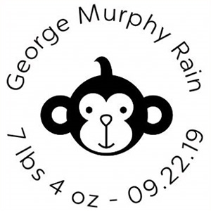 George Birth Announcement Stamp