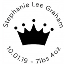 Picture of Stephanie Wood Mounted Birth Announcement Stamp