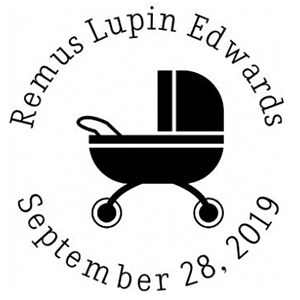Remus Birth Announcement Stamp