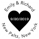 Picture of Emily Wood Mounted Wedding Stamp