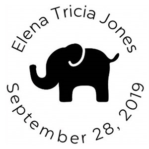 Elena Birth Announcement Stamp