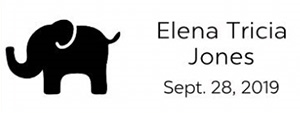 Elena Rectangular Birth Announcement Stamp