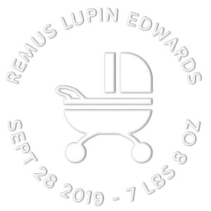 Remus Birth Announcement Embosser