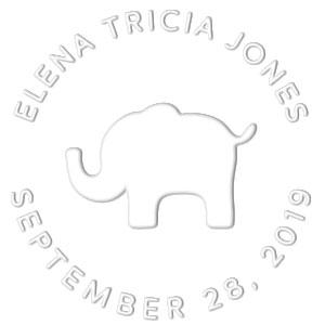 Elena Birth Announcement Embosser