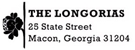 Picture of Longoria Rectangular Address Stamp