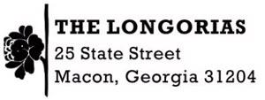 Longoria Rectangular Address Stamp