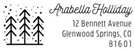 Picture of Arabella Rectangular Holiday Stamp
