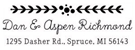 Picture of Aspen Rectangular Holiday Stamp