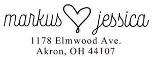 Jessica Rectangular Address Stamp