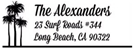 Alexander Rectangular Address Stamp