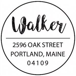 Walker Wood Mounted Address Stamp
