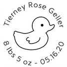 Picture of Tierney Birth Announcement Stamp