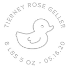 Picture of Tierney Birth Announcement Embosser