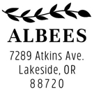 Picture of Albee Address Stamp