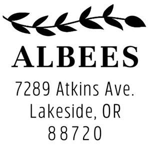 Albee Address Stamp