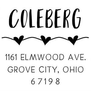 Coleberg Address Stamp
