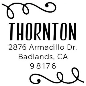 Thornton Address Stamp