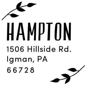Hampton Address Stamp
