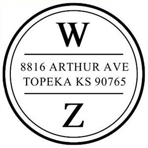 Warren Address Stamp