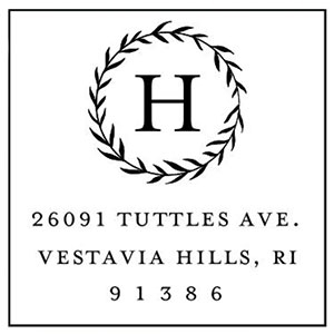Harding Address Stamp