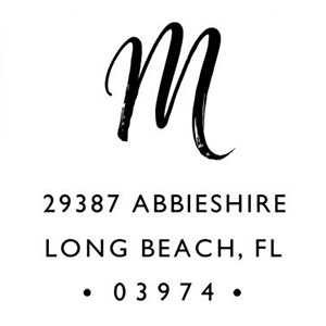 Morgan Address Stamp
