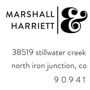 Harriett Address Stamp