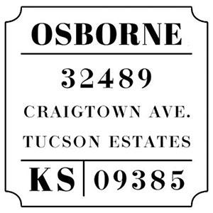 Osborne Address Stamp
