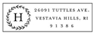 Picture of Harding Rectangular Address Stamp