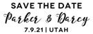 Picture of Darcy Rectangular Wedding Stamp