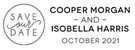 Picture of Isobella Rectangular Wedding Stamp