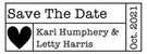 Picture of Letty Rectangular Wedding Stamp