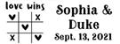 Picture of Sophia Rectangular Wedding Stamp