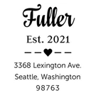 Picture of Fuller Wood Mounted Address Stamp
