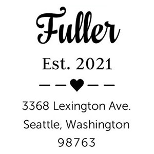 Fuller Wood Mounted Address Stamp