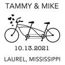 Picture of Tammy Wood Mounted Wedding Stamp