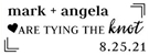 Picture of Angela Rectangular Wedding Stamp